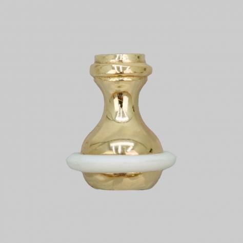 Roman Blind Weighted Toggle / Cord Pull - Polished Brass - Image 1