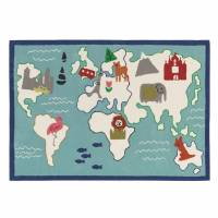 Designers Guild Around the World Rug - Aqua 120 x 170