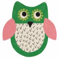 Designers Guild Little Owl Rug - Emerald 140 x 140