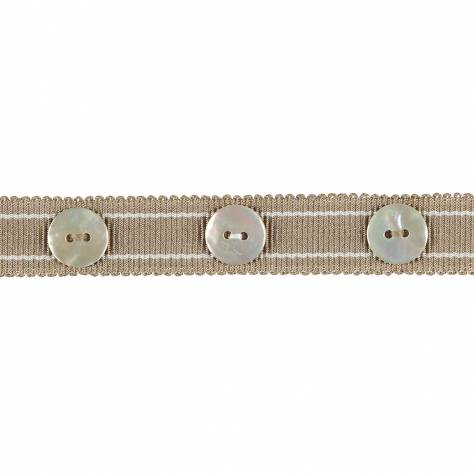 Harlequin Livanta Button Trim 150049 Linen & Pewter - Image 1