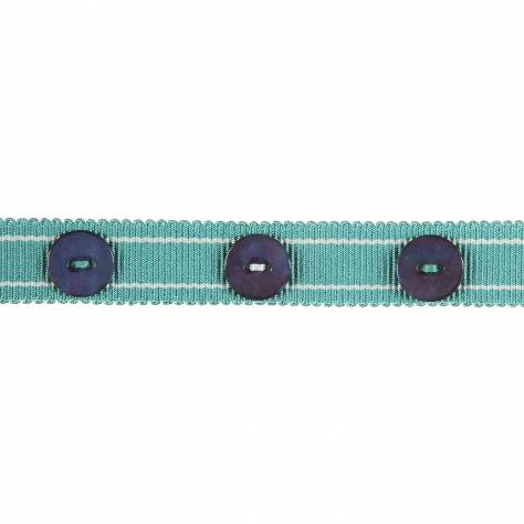 Harlequin Livanta Button Trim 150053 Marine & Aqua - Image 1