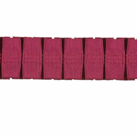 Harlequin Florence Pleats Trim 150068 Raspberry - Image 1