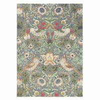 William Morris & Co Strawberry Thief Rug 27718 Slate (Select Size)