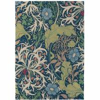 William Morris & Co Seaweed Rug 28008 Ink (Select Size)