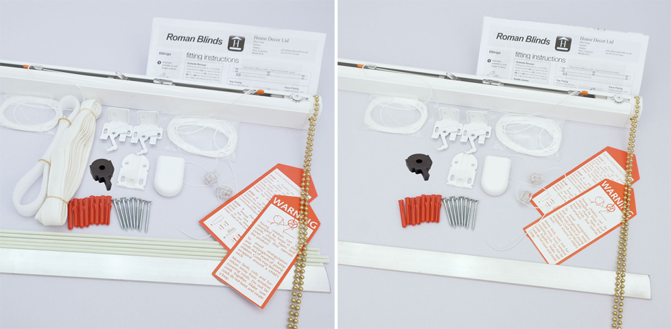 Roman Blind Complete System Kits