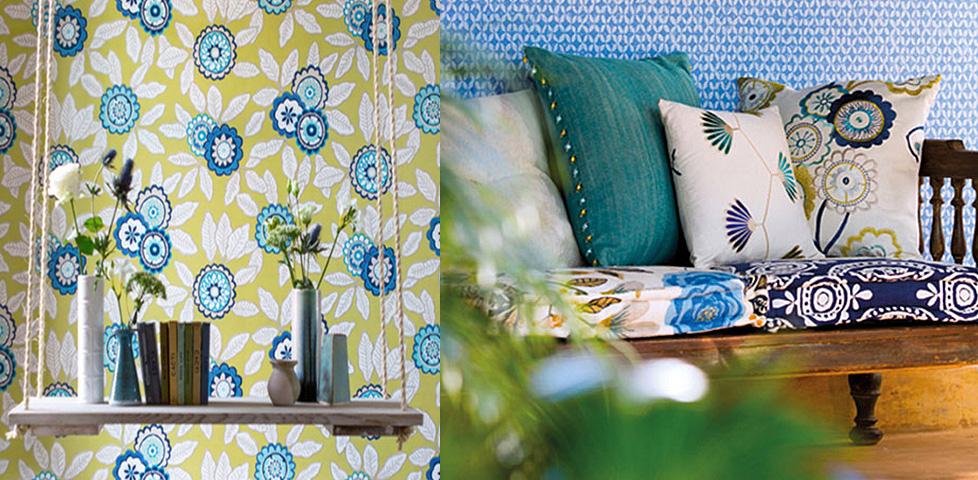 Jardin boheme wallpapers from harlequin for Decoration jardin boheme