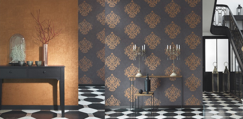 Majestic wallpapers from casadeco for Home wallpaper collection