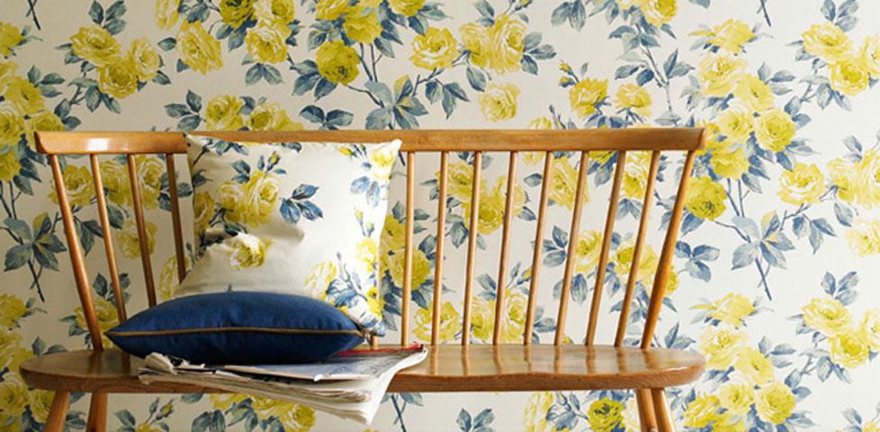vintage wallpapers from sanderson. Black Bedroom Furniture Sets. Home Design Ideas