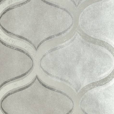 Prestigious Textiles Aspect Wallpaper Curve Wallpaper - Silver Shadow - 1655/964