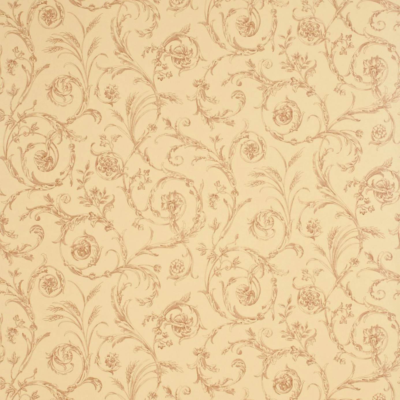 Art Nouveau Home Decor Scroll Co Ordinate Wallpaper Beige Cinnamon Degtsc102