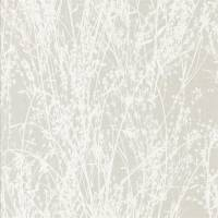 Meadow Canvas Wallpaper - White/Grey