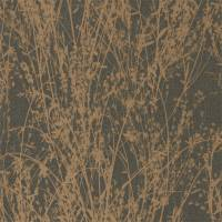 Meadow Canvas Wallpaper - Bronze/Charcoal