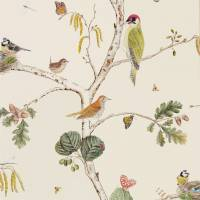 Woodland Chorus Wallpaper - Cream/Multi