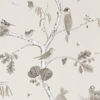 Woodland Chorus Wallpaper - Sepia/Neutral