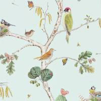 Woodland Chorus Wallpaper - Sky Blue/Multi
