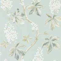Chestnut Tree Wallpaper - Grey Blue/Sage