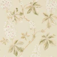 Chestnut Tree Wallpaper - Coral/Bayleaf