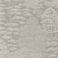 Woodland Toile Wallpaper - Linen/Gilver