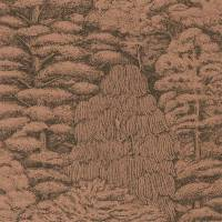 Woodland Toile Wallpaper - Copper/Charcoal