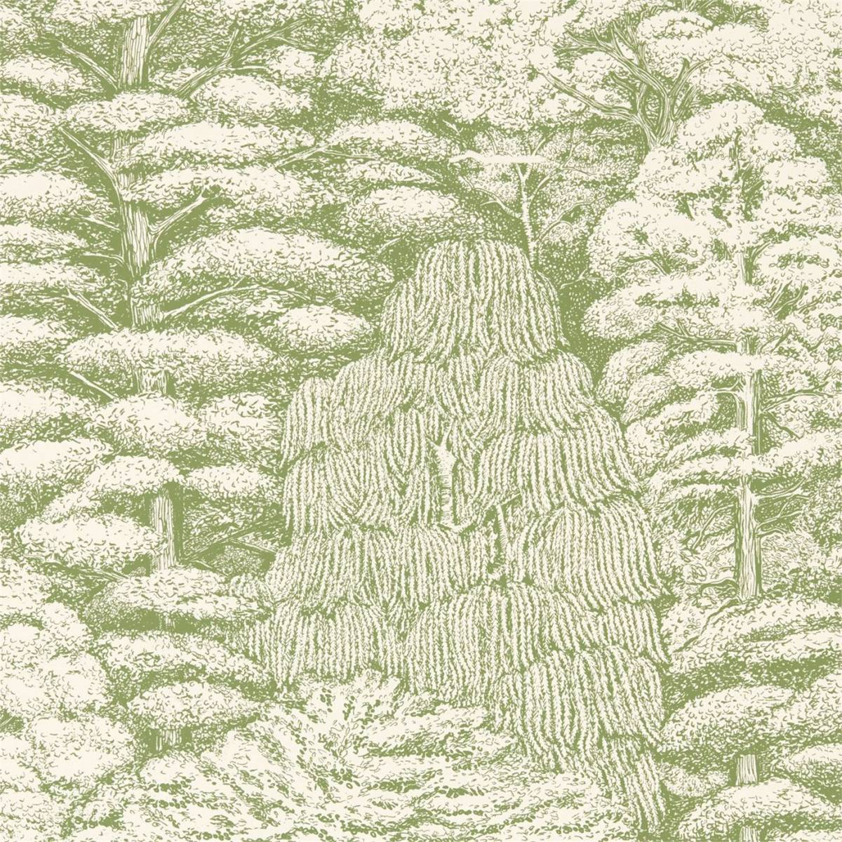 xpx Green Toile Wallpaper