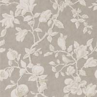 Magnolia & Pomegranate Wallpaper - Silver/Linen