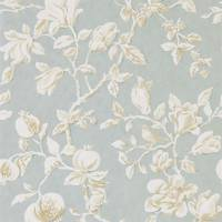 Magnolia & Pomegranate Wallpaper - Grey Blue/Parchment