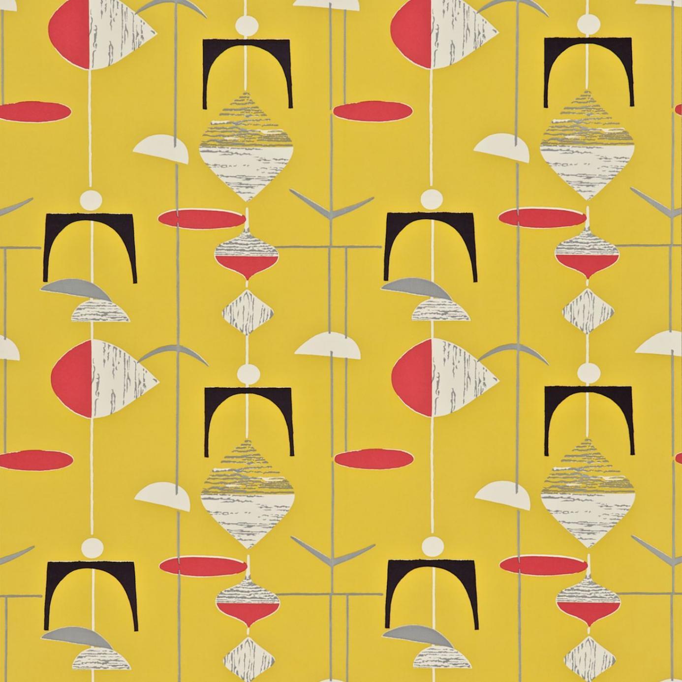 Mobiles wallpaper yellow red 210213 sanderson 50 39 s 50s home decor uk