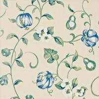 Pear and Pomegranate Wallpaper - China Blue