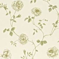 Rosalie Wallpaper - Linen
