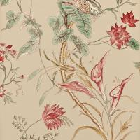 Mauritius Wallpaper - Red/Antique