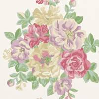 Midsummer Rose Wallpaper - Lilac/Rose