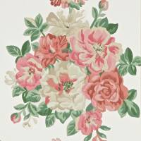Midsummer Rose Wallpaper - Red/Green