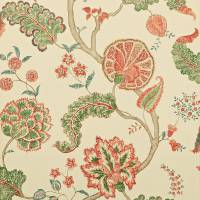 Palampore Wallpaper - Green/Red