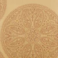 Paisley Circles Wallpaper - Gold/Russet