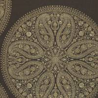 Paisley Circles Wallpaper - Charcoal