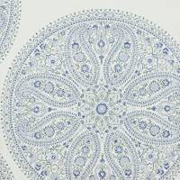Paisley Circles Wallpaper - Blue