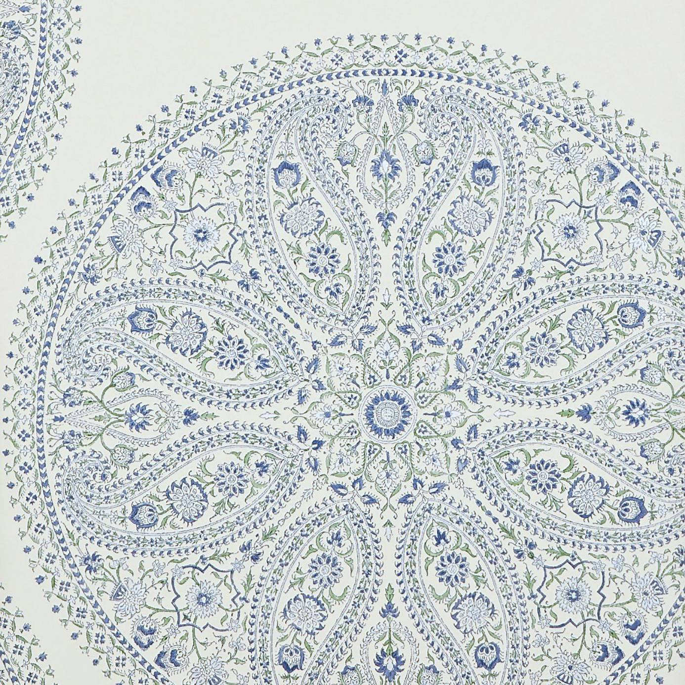Paisley Circles Wallpaper Blue DCAVPC103 Sanderson