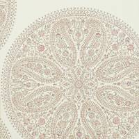 Paisley Circles Wallpaper - Mauve/Rose