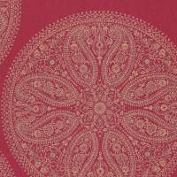 Paisley Circles Wallpaper - Red
