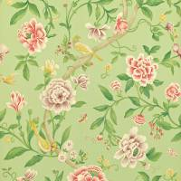 Porcelain Garden Wallpaper - Rose/Fennel