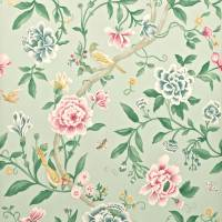 Porcelain Garden Wallpaper - Rose/Duckegg