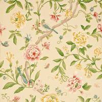Porcelain Garden Wallpaper - Red/Beige