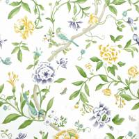 Porcelain Garden Wallpaper - Lemon/Leaf Green