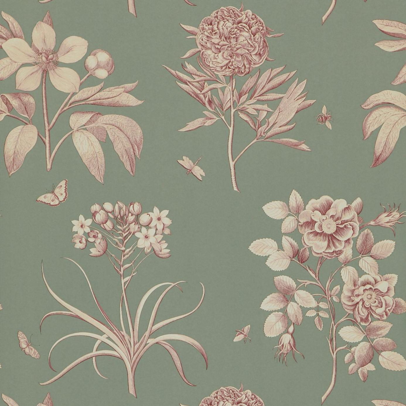 Etchings And Roses Wallpaper