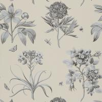 Etchings and Roses Wallpaper - Ivory