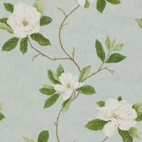 Sweet Bay Wallpaper - Wedgewood/Cream