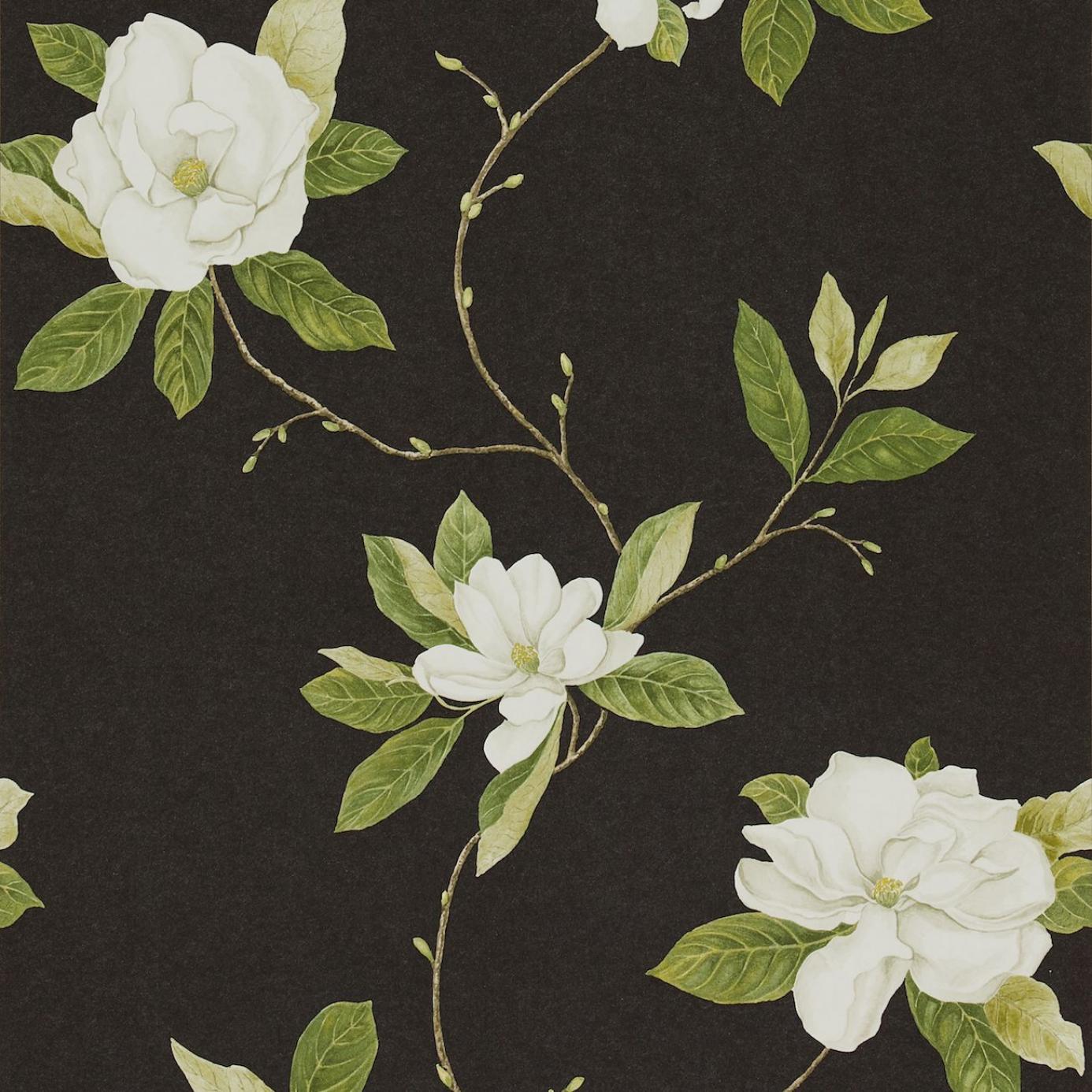 Sweet Bay Wallpaper Ebony Ivory Dpfwsw103 Sanderson