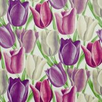 Early Tulips Wallpaper - Purple/Plum