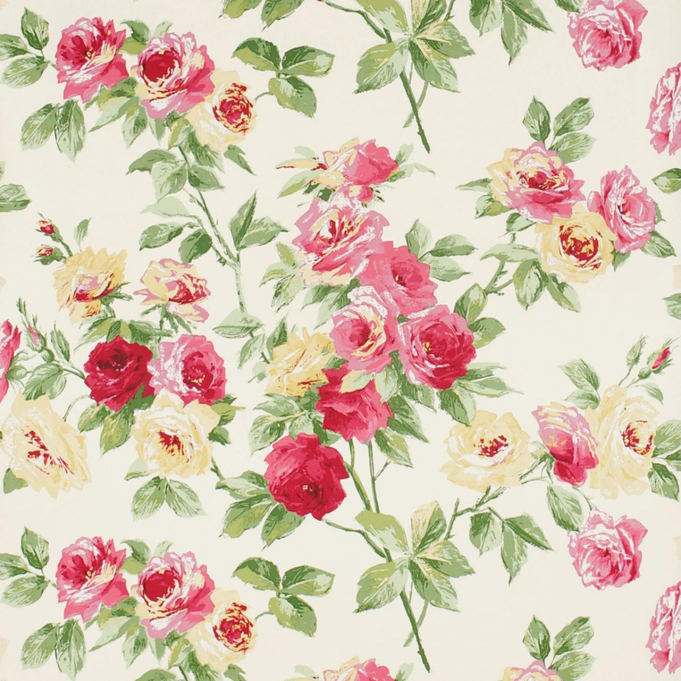 Eglantine Wallpaper Rose Yellow Dviweg101 Sanderson Vintage Wallpapers Collection