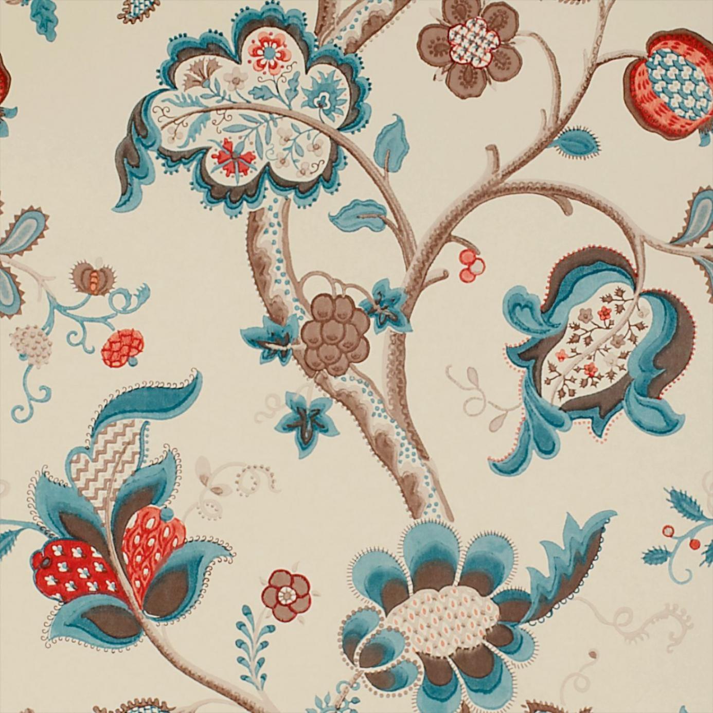 roslyn wallpaper teal cherry dviwro105 sanderson. Black Bedroom Furniture Sets. Home Design Ideas